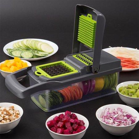 7 in 1 Kitchen Pressing Food Cutter Chopper Slicer Peeler Dicer Vegetable (Criterion 7 1 2 Food Slicer Msl 75)