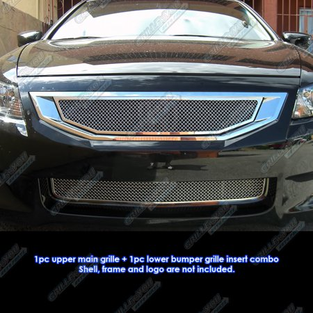 Compatible with 08-10 Honda Accord 2 Door Coupe Mesh Grille Combo H77794T
