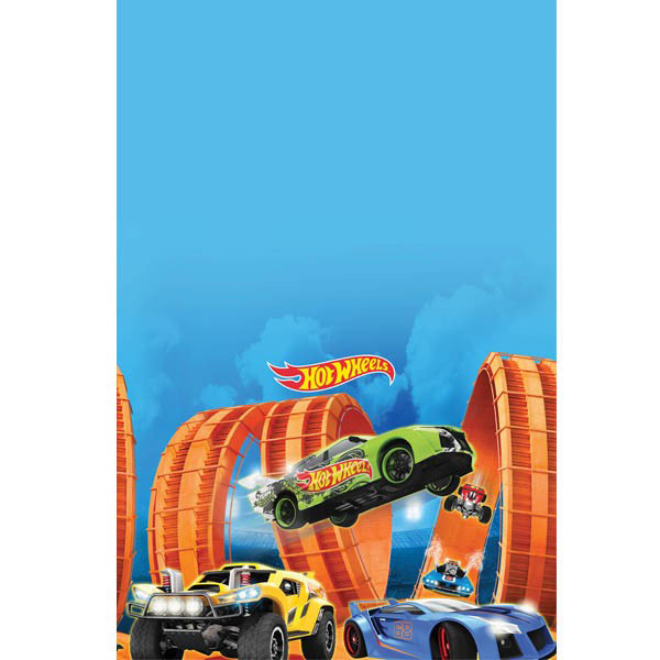 "Hot Wheels Plastic Table Cover 54"" x 96"""