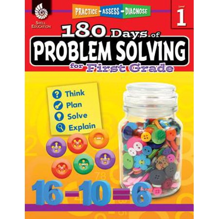 180 Days of Problem Solving for First Grade (Grade 1) : Practice, Assess, Diagnose