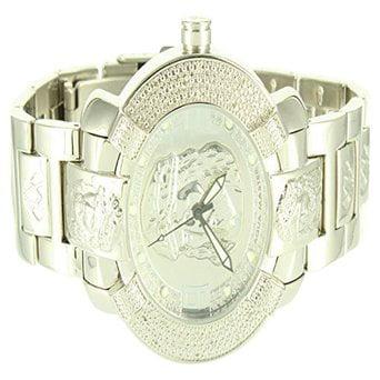 Jesus Dial Mens Epic Silver Edition Aqua Master Metal Band Custom Wristwatch