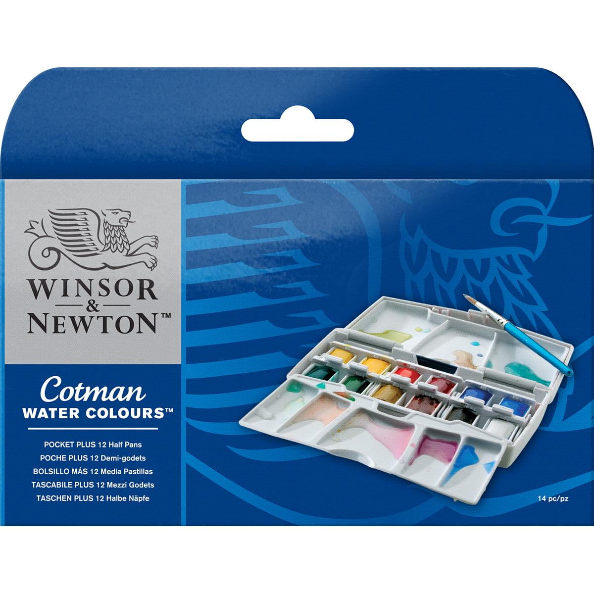 Winsor & Newton Cotman Water Colours Pocket Plus 12 Half Pens