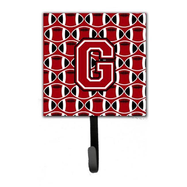 Carolines Treasures CJ1073-GSH4 Letter G Football Red, Black & White Leash or Key Holder - image 1 de 1