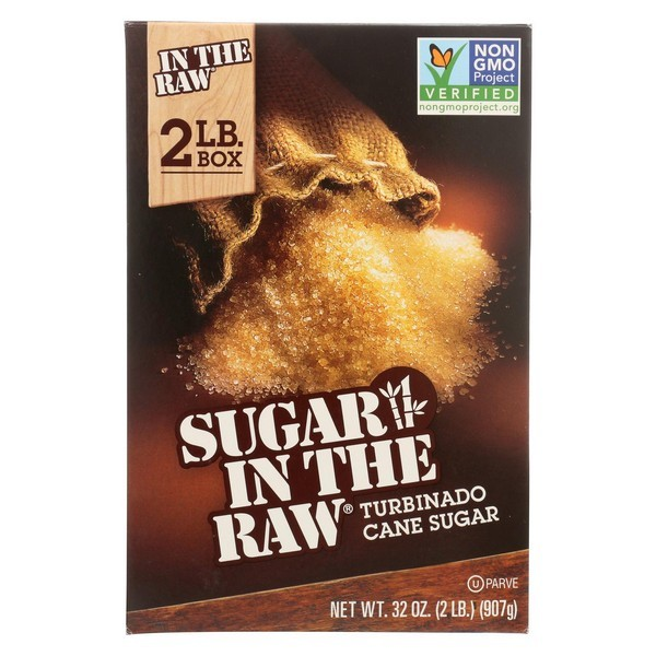 Sugar In The Raw Turbinado Sugar - pack of 12 - 2 Lb.