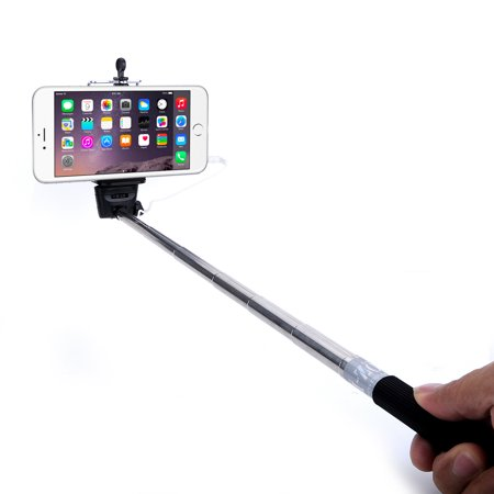 minisuit selfie stick battery free for apple android with wire earphone. Black Bedroom Furniture Sets. Home Design Ideas