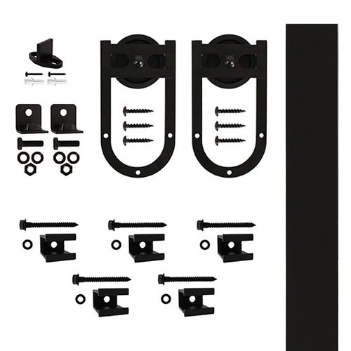 Quiet Glide Rail Horse Shoe Strap Barn Door Hardware Kit