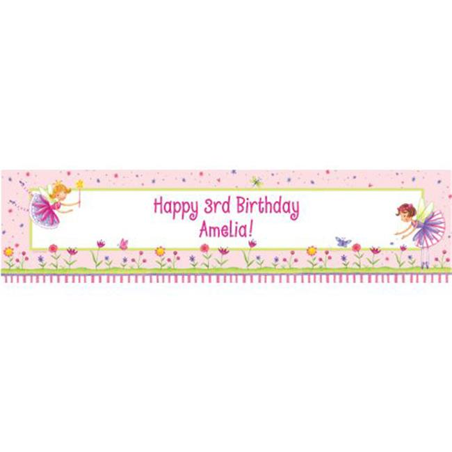Costume Supercenter BB013787 Fairy Party Personalized Banner