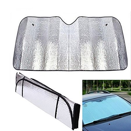 Front Windshield Sun shade, Black Jumbo 5 Layers Reflective Accordion Folding Auto Sunshade for Car Truck (Reflective Shades)