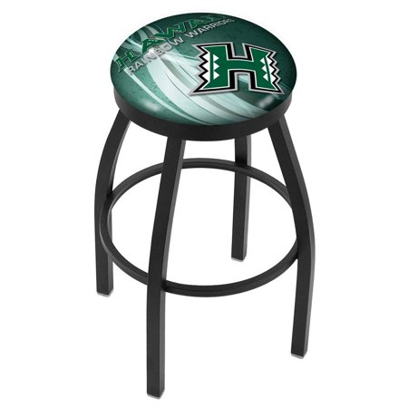 Hawaii 25 Inch L8b2b Black Wrinkle With Accent Ring Bar Stool