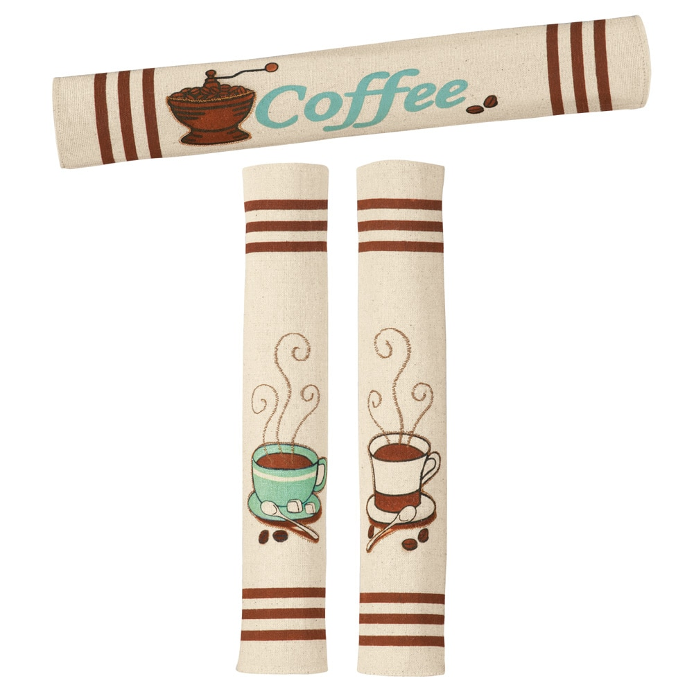 Coffee Appliance Handle Covers - Set Of 3, Ivory