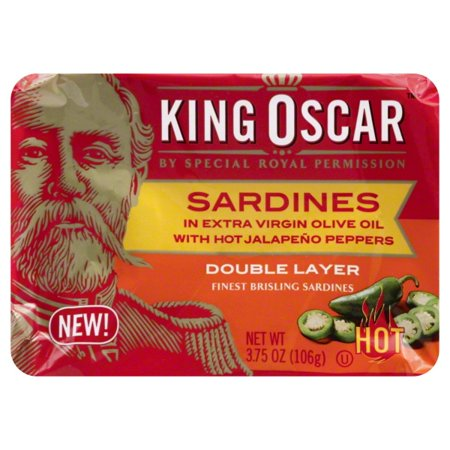King Oscar Two Layer Sardines & Jalapeno in Olive Oil, 3.75