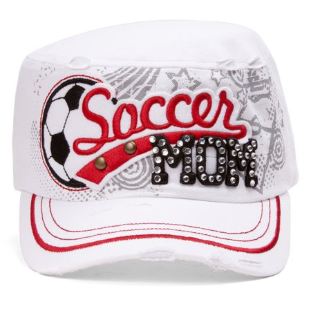 TopHeadwear Soccer Mom Distressed Adjustable Cadet Cap - Soccer Cap