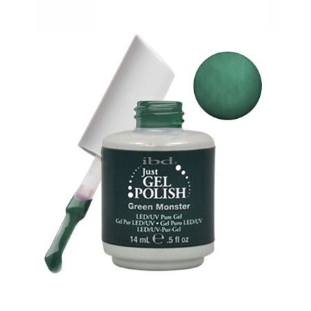 Halloween Monster Nails (IBD Just Gel 0.5oz Soak Off Nail Polish Green, MONSTER,)
