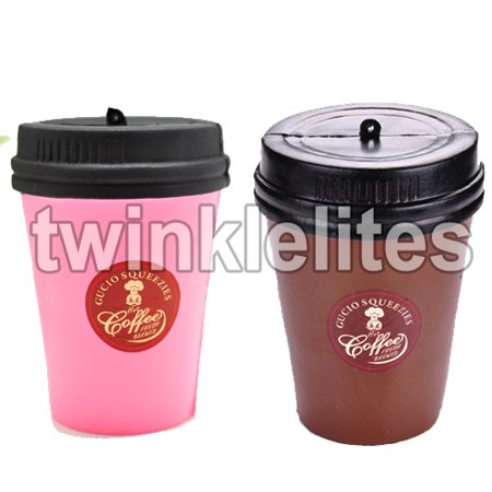 Jumbo Coffee - Squishy Slow Rising Squeeze Coffee Cup Fun Stress Anxiety Reliever Food Beverage Squishies Jumbo Soft 1pc