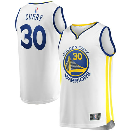 Stephen Curry Golden State Warriors Fanatics Branded Youth Fast Break Replica Jersey White - Association (College Replica Basketball Jersey)
