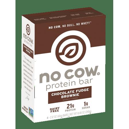 No Cow Chocolate Fudge Brownie Bar - 2.12oz (4 pack)
