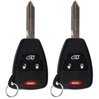2 PACK KeylessOption Keyless Entry Remote Control Uncut Car Key Fob Replacement OHT692427AA KOBDT04A for Chrysler Dodge Jeep Vehicles