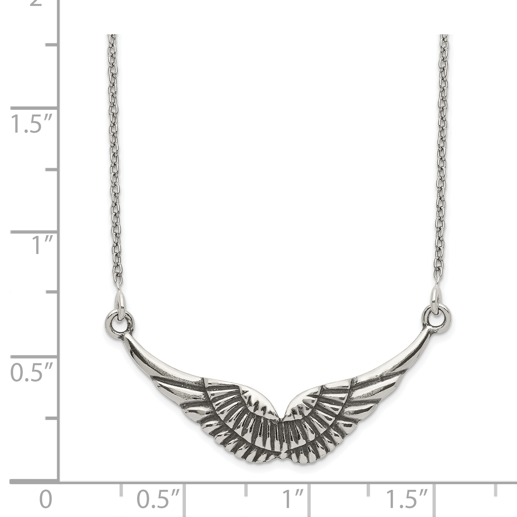 925 Sterling Silver Wings Chain Necklace Pendant Charm Wing Fine Jewelry Gifts For Women For Her - image 1 of 2