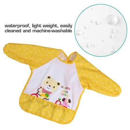 Oversized Infant Toddler Baby Waterproof Long Sleeved Bib for 1-3 Years Old 3f5a5f90b