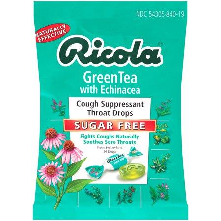 Ricola® Green Tea with Echinacea Sugar Free Cough Suppressant Throat Drops 19 ct. Bag