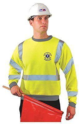 Sweatshirt,100 per. Polyester,Yellow,4XL LUX-SWT3-Y4X