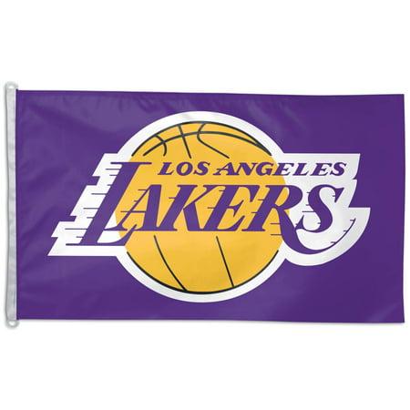 WinCraft Los Angeles Lakers 3' x 5' Wordmark Flag ()