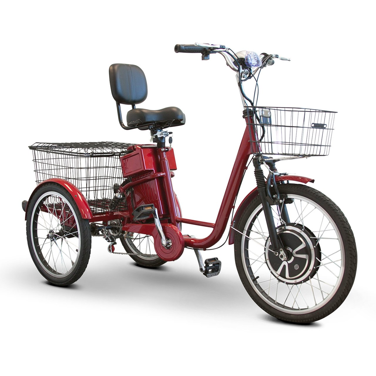 EWheels EW-29 Electric Trike Tricycle Scooter Red by Electric Wheels LLC