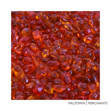 Milltown Merchants™ Orange Aquarium Glass Gravel - Safe, Non-toxic, and Gravel Vacuum Friendly Alternative to Acrylic-Coated Substrate