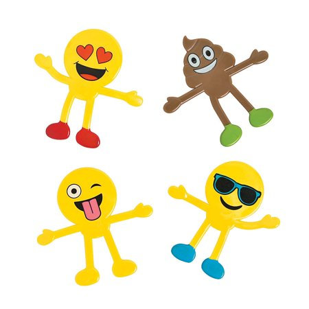Fun Express - Emoji Bendable - Toys - Character Toys - Bendables - 24 Pieces Emoji Bendable - Toys - Character Toys - Bendables - 24 Pieces