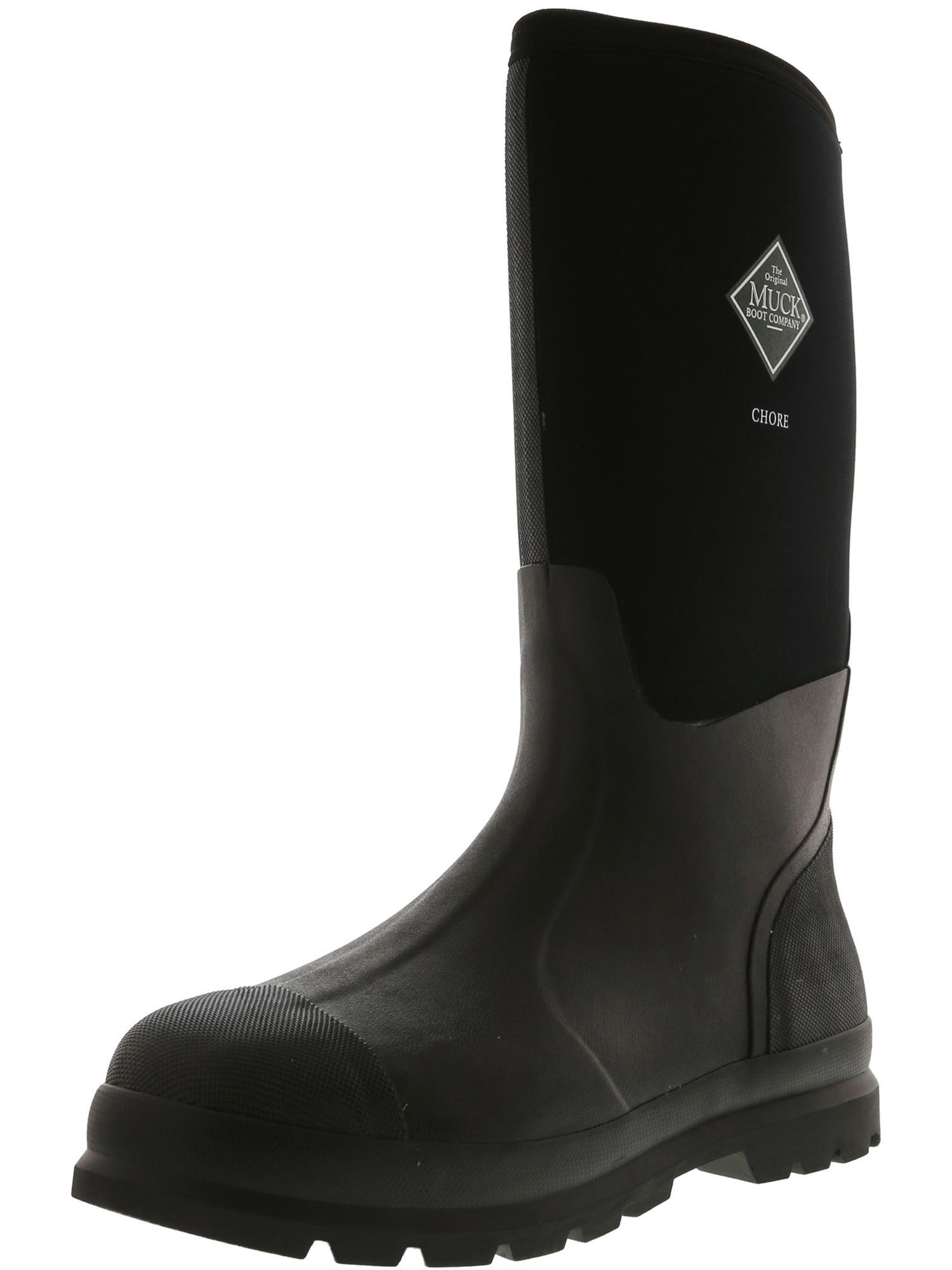 Muck Boot Company Chore Black Knee-High Fabric Rain - 12M / 11M