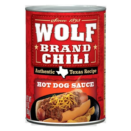 Wolf Brand Chili Hot Dog Sauce  10 Ounce