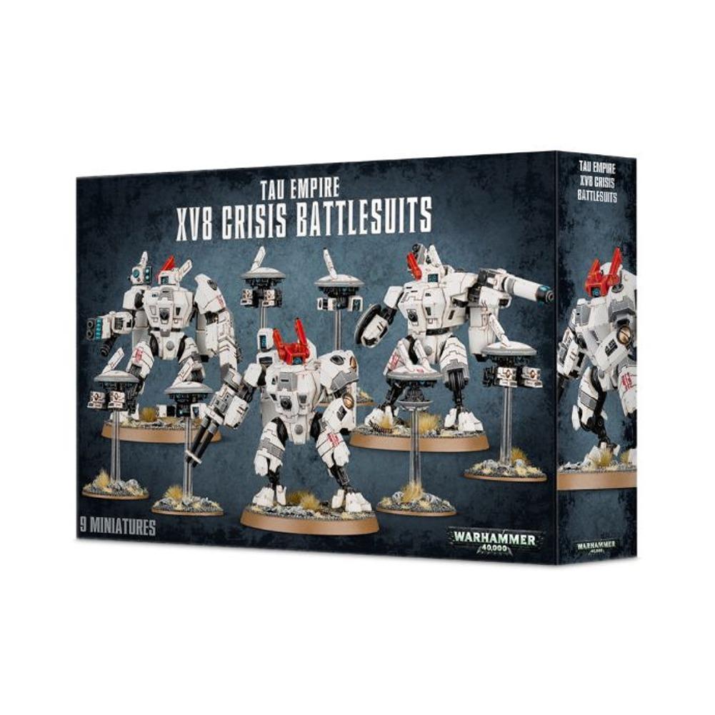 Tau Empire XV8 Crisis Battlesuits Warhammer 40,000 Plastic Model Set by Games Workshop