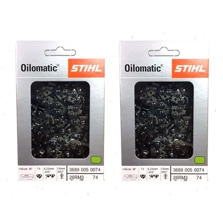 STIHL Oilomatic 26 RM3 74 Rapid Micro Chainsaw Chain - 2 Pack + 30% (Best Stihl Chainsaw Ever Made)