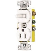 3 Way And 2 Pole Combo Switch Receptacle 15 Amp White
