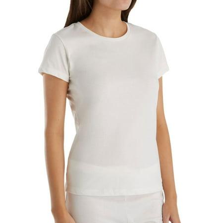 Cap Sleeve Animal (Women's Cottonique W12210 Latex Free Organic Cotton Cap Sleeve Shirt )