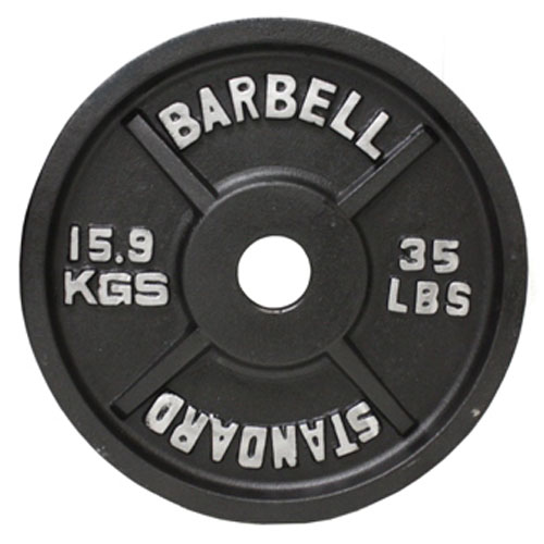 USA Sports by Troy Barbell 35 lb. Black Olympic Plate