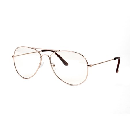 Gravity Shades New Non-Prescription Premium Aviator Clear Lens ...