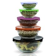 Imperial Home Glass Lunch 5 Container Food Storage Set