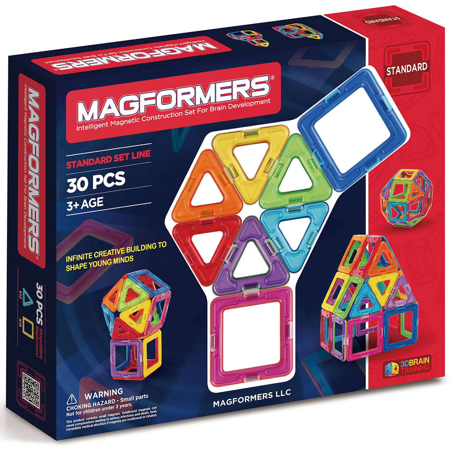 Magformers Rainbow 30-Piece Magnetic Construction Set