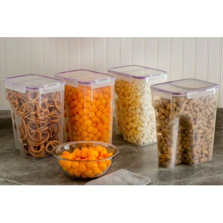 Snapware Airtight Plastic 22.8-Cup Fliptop Food Storage Container, 4-Pack