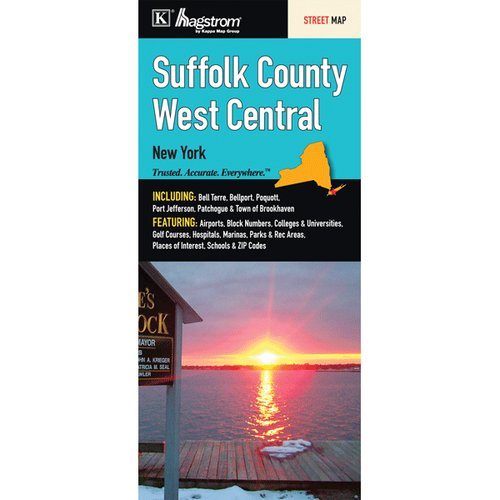Universal Map Suffolk County West Central Fold Map
