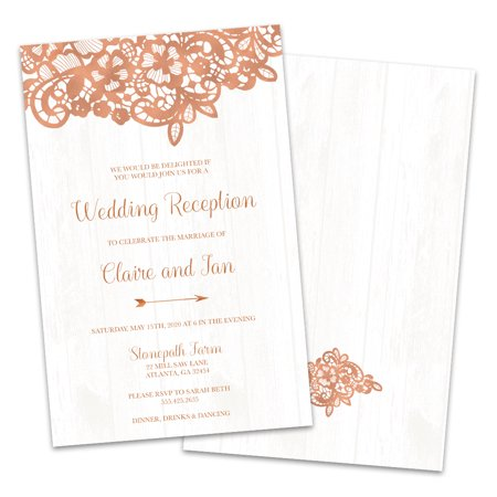 Country Chic Personalized Wedding Reception Invitations (Wedding Invitations Country Style)
