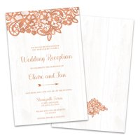 Country Chic Personalized Wedding Reception Invitations