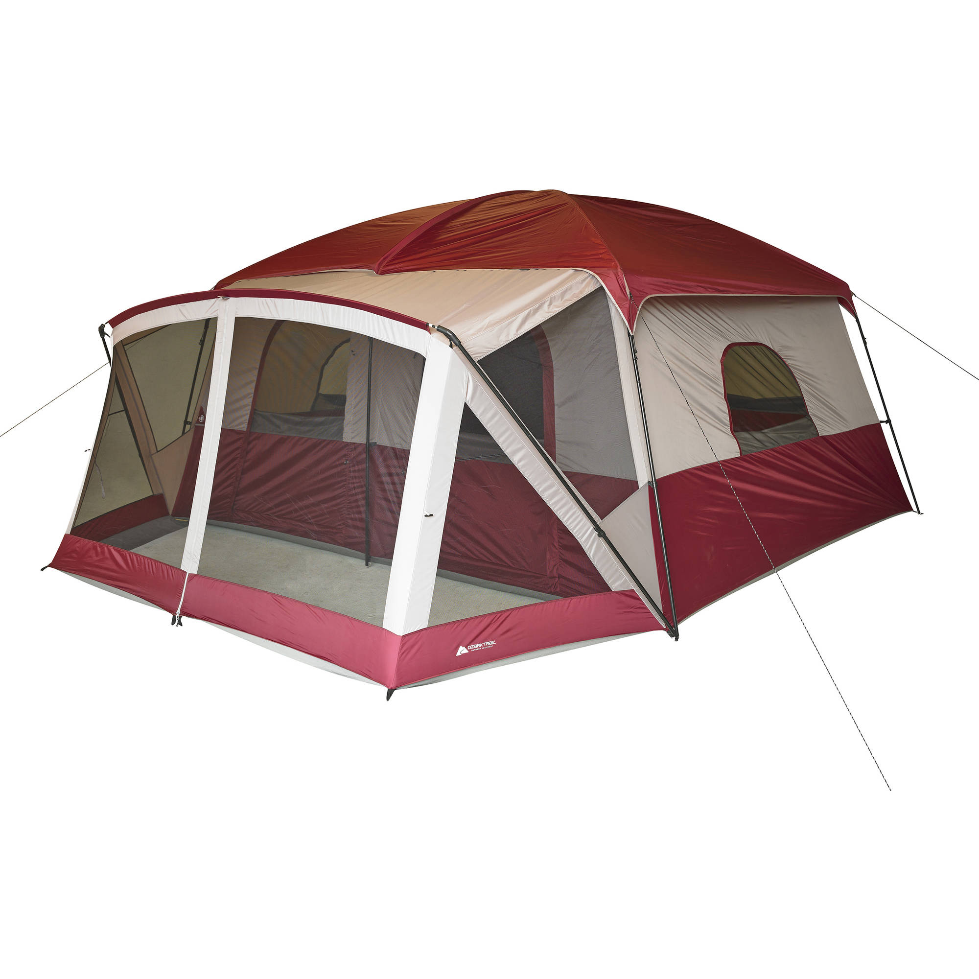 sc 1 st  Walmart & Ozark Trail 12-Person Cabin Tent with Screen Porch - Walmart.com