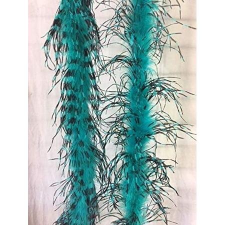 Ostrich Feather Boas (Jade/Black)