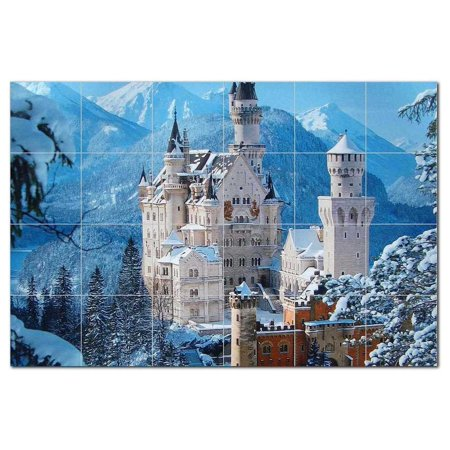 Castle Ceramic Tile Mural Kitchen Backsplash Bathroom Shower 400425 S6