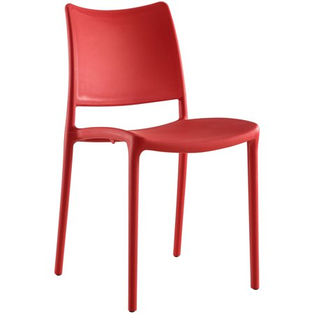 Terrific Modern Contemporary Dining Side Chair Indoor And Outdoor Red Plastic Beatyapartments Chair Design Images Beatyapartmentscom