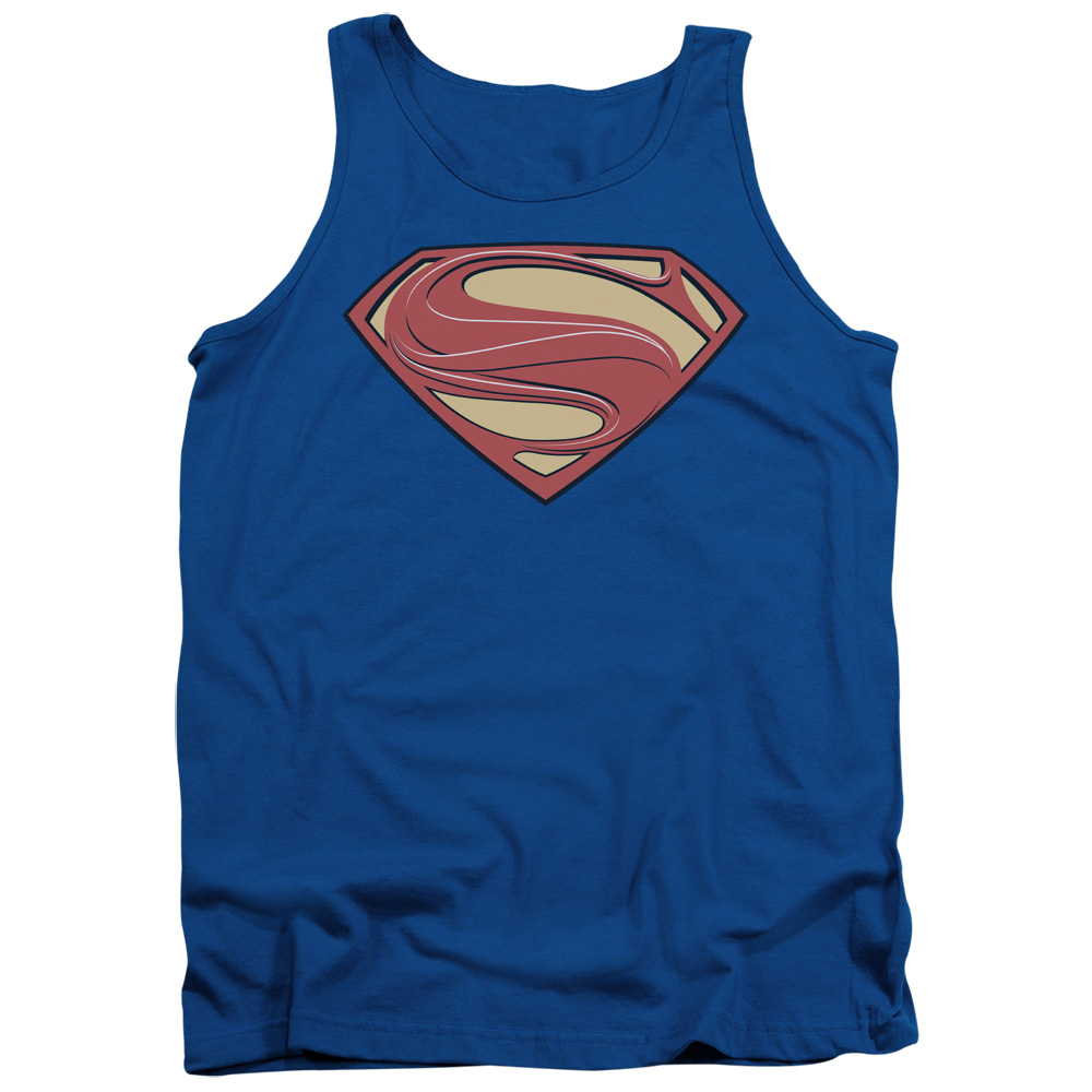 Man Of Steel/New Solid Shield   Adult Tank   Royal     Sm2072