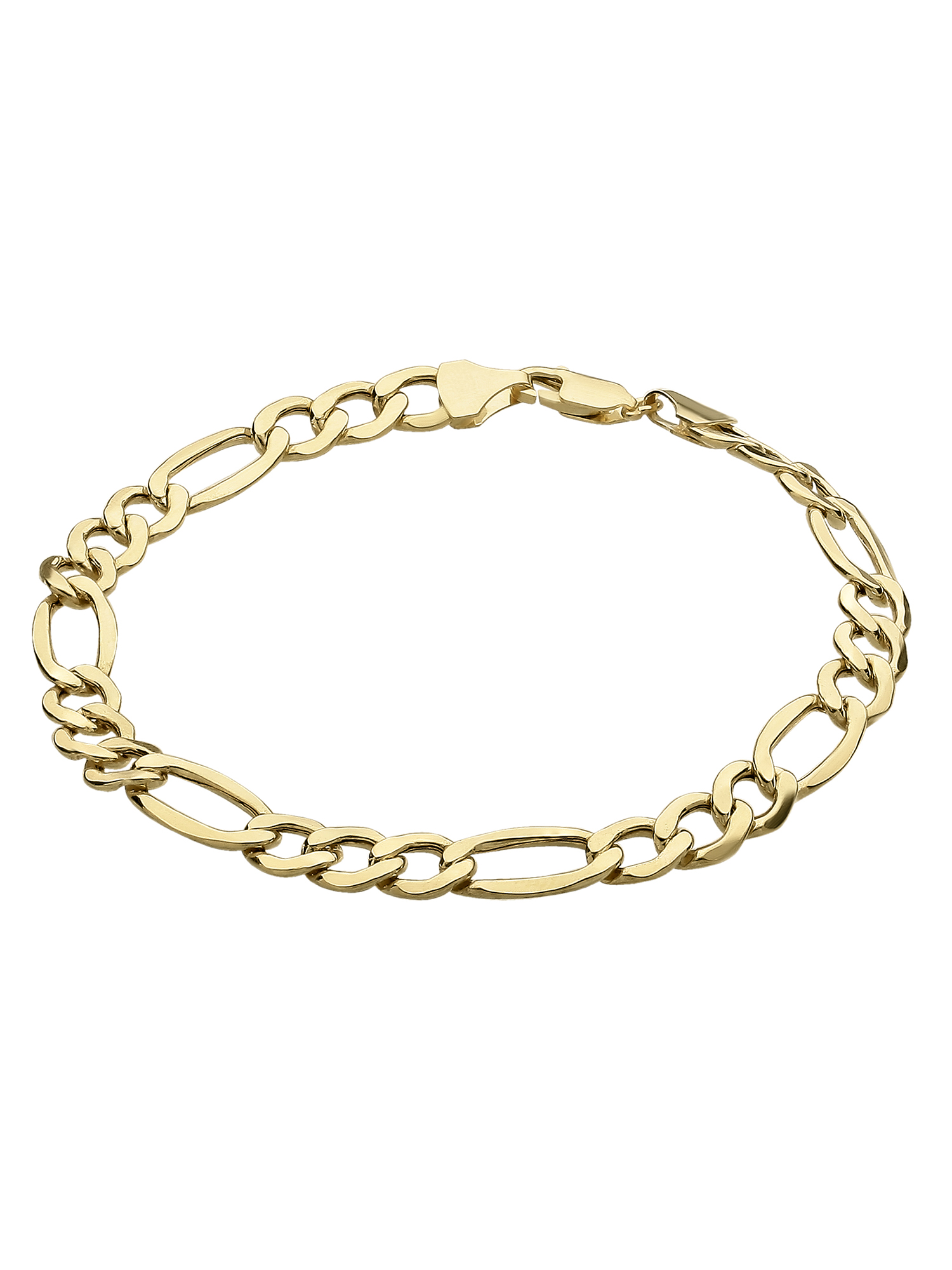 "Simply Gold Men's 10K Yellow Gold 7.55mm Figaro Chain Bracelet, 8.5"" by Richline Group Inc"