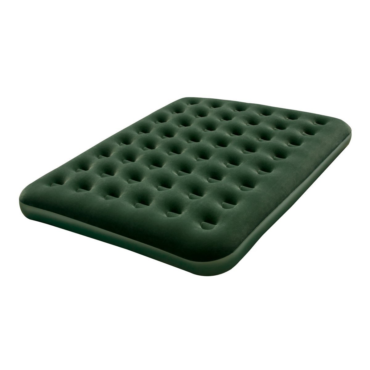 Flocked Inflatable Air Bed Mattress - Queen, Sturdy pre-t...